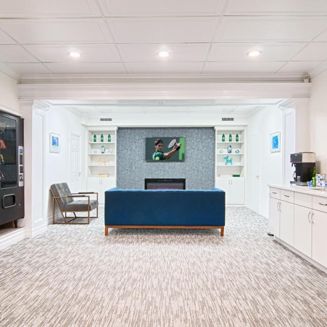 Tennis club lobby